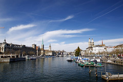 Zurich (Magryciak) Tags: 2018 holiday trip travel europe switzerland zurich city urban view landscape cityscape sky canon eos water river blue polariser