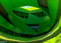 The green face - le masque (paul.porral) Tags: green flickr ngc building bâtiment design colorful house windows graphic urban urbanscape lyon france façade futuristic modern city cityscape