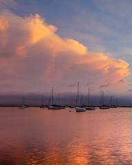 Harbor Sunrise (aka Buddy) Tags: 2018 summer sunrise harbor sailboats sky clouds atlantichighlands nj og hdr