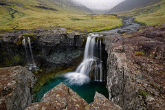 Jagged (pdxsafariguy) Tags: hofn iceland waterfall water skutafoss rock cliff fog clouds lichen river stream europe tomschwabel
