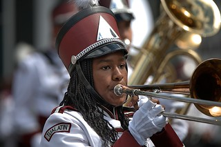Marching Trombonist