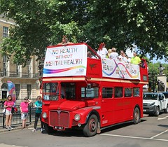 NHS East London - Pride in London 2018 - Traditional Travel - RM1087 - 87CLT (Waterford_Man) Tags: traditionaltravelltd routemaster rm1087 opentop nhseastlondon 87clt prideinlondon2018 lgbt lesbian gay bi trans parade float london event party