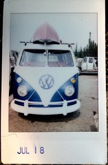 1966 VW Bus (Robert Drozda) Tags: fairbanks alaska farmerslooptransfersite east volkswagen bus 1966 vw canoe dump fujiinstaxmini instantfilm drozda
