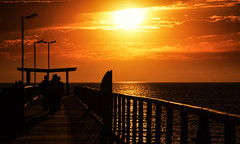 sea air, my aromatherapy. (Bec .) Tags: seaair myaromatherapy bec canon 80d 18135mm jetty pier adelaide southaustralia largsbay largs sunset clouds sun people fishing silhouette beautiful light water ocean sea