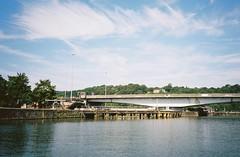 CNV00152 (knautia) Tags: plimsollbridge cumberlandbasin floatingharbour bristol england uk july 2018 film ishootfilm olympus xa2 olympusxa2 kodak kodacolor 200iso nxa2roll35 harbour docks bridge swingbridge bristolferry ferry