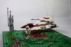 22 BBY (♠York♠) Tags: lego star wars battle moc fighter tank field