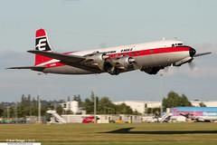 G-APSA - Douglas DC-6A Liftmaster - British Eagle (Air Atlantique) (KarlADrage) Tags: gapsa douglasdc6 dc6a liftmaster britisheagle airatlantique egbe cvt coventrybaginton coventryairport takeoff