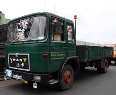 Old MAN COE Truck (Schwanzus_Longus) Tags: german old classic vintage truck lorry vehicle flatbed platform coe cab over engine man f8 wiesmoor germany