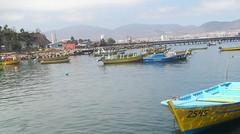 caleta de Guayacan (patriciamura) Tags: mar sea playa beach coquimbo arena sand nubes clouds chile guayacan bahia caleta mercado pescado fish botes pescadores pesca pesquero pescaderia