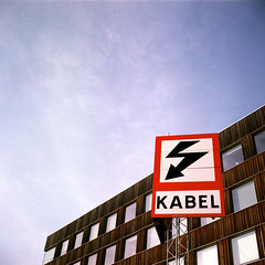 Kabel, Umeå, Sweden, 2018 (Baptiste Janin) Tags: umea sweden suede pannel sky snow building abstract architecture kabel lightning eclair 120 kodak ektar100 ektar film analog mamiya mamiya6 mamiya6mf travel