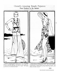 Chanel beach Pajamas  1931  Albany Times union (albany group archive) Tags: womens pants apparel dress 1920s old albany ny vintage photos picture photo photograph history historic historical