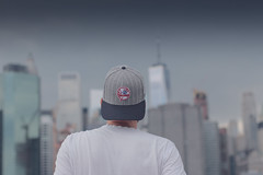 Yankee Frenchy Boy (louis_de_finess) Tags: newyork city panorama canon eos 100d ny nyc 50mm f18 building sky groundzero snapback boy yankees hat travel yongnuo back man portrait style buildings casquette gratteciels gratteciel immeuble manhattan dof