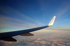 Ryanair View (Fraser Murdoch) Tags: fraser murdoch aviation aircraft ryanair eiema b738 b737 737 738 b737800 737800 boeing wing winglet view cloud sunset summer blue sky canon eos 650d