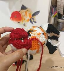 IMG_20180721_121001_660 (Mingle Doll 鳴娃娃) Tags: crochet crochetgoldfish crochetfish amigurumi amigurumidoll crochetamigurumi oranda orandagoldfish fancygoldfish 金魚 かぎ針編み金魚
