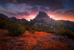 A new day begins... (Croosterpix) Tags: landscape nature morning mountains sky clouds backlit sony a7r tamron
