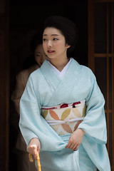 Beautiful (byzanceblue) Tags: kyoto maiko geisha geiko kagai miyagawacho japan japanese woman girl female beauty cute beautiful 宮川町 京都 kimono gion dance lovely 舞妓 舞踊 traditional kanzashi formal 祇園 black 花街 white color colour flower nikkor background people photo portrait professional lady lovery 芸妓 着物 bokeh red traditonal summer