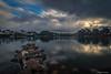 Claror (AvideCai) Tags: avidecai nubes cielo reflejos paisaje pantano agua filtro largaexposición canon1635 montaña amanecer