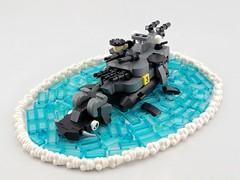 Shen Yunchang, the Father of Fleets (Deltassius) Tags: dragon turtle moc lego ship battleship kaiju monster sea navy