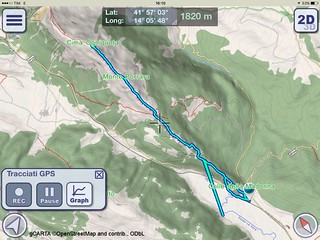 22/04/2018 - Traccia GPS escursione sul Monte Porrara (2137 m) e sulla Cima Ogniquota (2100 m), Parco Nazionale della Majella