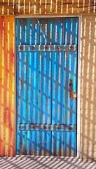 blue door pattern shadow cellphonephotography light... (Photo: VenturaMermaid on Flickr)