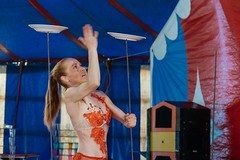 Juggler (Luca Quadrio) Tags: fun joke play art entertainment cassolnovo people agility italy action performance costume adult sardinia juggle actor juggler colorful circus clown artist funny woman juggling spectacle show amusement game young performer lombardia italia it