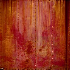Abstract (StephenReed) Tags: abstract art abstractart metal rust rivets weathered traincar color square nikond3300 stephenreed