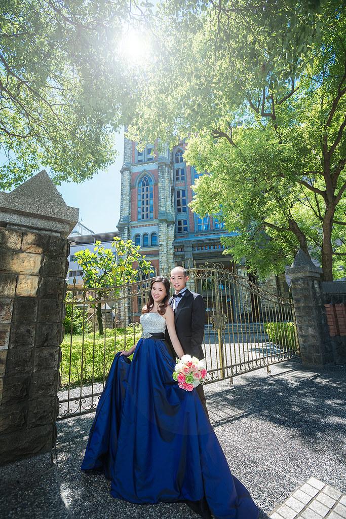 192婚紗攝影-婚紗照-淡水-教堂-砲台公園