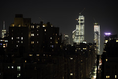 Uptown/Downtown (Joe Josephs: 3,166,284 views - thank you) Tags: joejosephs nyc newyorkcity skyline travel travelphotography urbanscene citiscape city cityphotography newyorkcityphotography rooftop night nightphotogaphy urbannight sky skyatnight nightsky freedomtower downtown