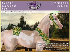 E-RH-FloralGarlands-Primrose-Yellow (honeyheart1) Tags: sl secondlife eliteequestrian horse realhorse garland floral flower wedding