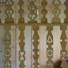 Wood layers (mikael_on_flickr) Tags: wood carving church chiesa kirke kirche eglise hvalvik føroyar færøerne faroeislands isolefaroe pattern layers