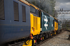 """the classic """"going away"""" shot (daveymills37886) Tags: drs class 374 37424 crewe bls nosey peaker 37 direct rail services large logo 37407 branch line society"""