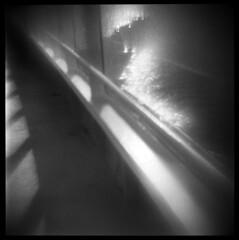 Morning Ferry #3 (LowerDarnley) Tags: agfaisoly modifiedcamera flippedlens transplantedlens holgalens straitofsanjuandefuca wa bc portangeles victoria ferry ocean blackballferry northwest