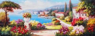 Promenade at Garden, Art Painting / Oil Painting For Sale - Arteet™