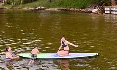 Help Up (donna_0622) Tags: paddle board aunt helping water bayou fl florida nikon d750 summer vacation