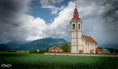 Sloveniaian ChapelJune 10, 2018.jpg (outlaw.photography) Tags: landscape chrisdaugherty nature mountains rural chapel slovenia infinityimages chiuruch europe062018 clouds architecture photography june2018 sky light outlawphotography