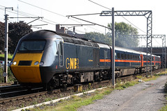 43038 'City of Dundee' + 43120 'National Galleries of Scotland' (Cumberland Patriot) Tags: gner great north eastern railways inter city 125 ic intercity125 ic125 intercity hst high speed train br british rail brel paxman power car class 43 43038 nrm national railway museum of dundee 43120 galleries scotland dieselelectric diesel motive traction unit wcml west coast main line caldew junction carlisle express passenger diversions diverted tyne valley railroad rails track tracks