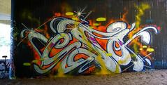 OLDENBURG - BRIDGE GALLERY / bridges near the city center - Brücken in Innenstadtnähe / Graffiti, street art - 308th picture (tusuwe.groeber) Tags: projekt project lovelycity graffiti germany deutschland lowersaxony oldenburg streetart niedersachsen city stadt farbig farben favorit colourful colour sony sonyphotographing nex7 bunt red rot art gebäude building gelb grün green yellow abs psk bridgegallery bridge bridges brücke brücken brückenkunst präventionsrat marschweg westfalendamm niedersachsendamm cloppenburgerstrase