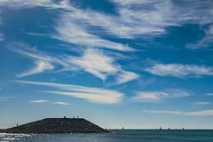 Light Clouds (NathalieSt) Tags: europe france hérault lagrandemotte languedocroussillon occitanie architecture borddemer city mer nikon nikond5500 nikonpassion nikonphotography sea seaside ville