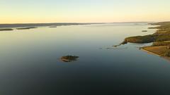 Sunset over Dundee, NS from DJI Mavic Pro (kimshand) Tags: sunset brasdorlakes ns lake marine dundee dundeeresort westbay summer capebreton calm inlandsea 2018 july