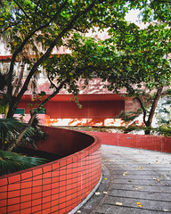 RED STONE (Dace Saeades) Tags: shatin hongkong newterritories architecture jungle curve