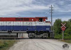 OSRX 644 (Ramblings From The 4th Concession) Tags: panasonicfz1000 m420w mlwlocomotives osrx644 guelphnorthspur guelphont railwayphotography freighttrains ontariosouthlandrailway
