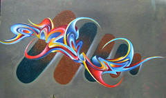 DARK-AMOUR (Chrixcel) Tags: amour darkamour graff tag archive peinture 3d volume sylvainmathurin fresque