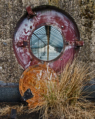 Porthole to dereliction (Craig Hannah) Tags: diggle saddleworth village industry abandoned derelict derelectbuilding decay palletworks whshaws craighannah july 2018 canon photography photos pennine westriding yorkshire oldham greatermanchester england uk history dobcross