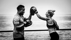 Committment (MyEyeSoul) Tags: bondi bondibeach sydney australia icebergs beach beachlife boxing boxer training fitness leisure blackandwhite blackwhite monochrome street streetlife portrait people