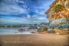 Reverie on the Sand (Michael F. Nyiri) Tags: 1000stepsbeach lagunabeach california orangecounty southerncalifornia beach ocean pacificocean sand rocks rockyshore