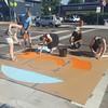 20160717_091308 (WalkDenver) Tags: colfax bluebird crosswalks mural intersection streetart