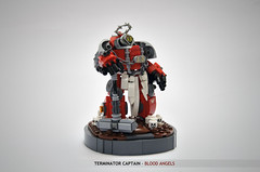 Blood Angels Captain In Terminator Armour (Faber Mandragore) Tags: lego moc sci fi mecha powersuit warhammer 40k wh40k space marine terminator blood angel captain victory pose faber mandragore fabermandragore