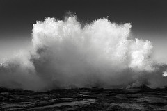 ephemeral sculptures  #9988 (lynnb's snaps) Tags: canon6d ef40mmf28stm freshwater digital nature ocean waves 2017 coast sydney spray breakingwave blackandwhite bw bianconegro bianconero blackwhite biancoenero blancoynegro noiretblanc schwarzweis monochrome australia