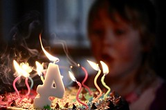 Birthday candles (stephencharlesjames) Tags: birthday cake child candles low natural light