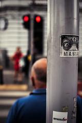 maniac (ewitsoe) Tags: canoneos6dii city europe street warszawa erikwitsoe poland summer urban warsaw gritty afternoon storm corssing traffic redlight wardsaw sticker maniac running ate